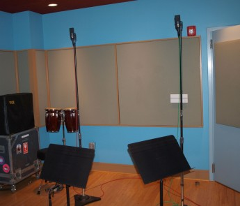 Two Neumann TLM 170's were used to capture the room sound