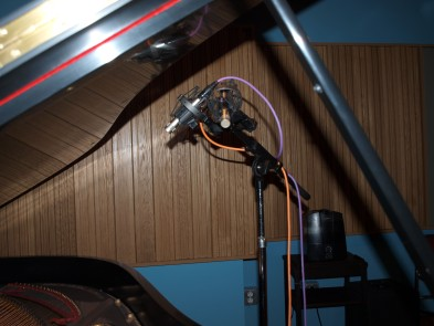 A pair of Neumann KM-84's were the close mics on the piano