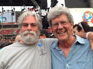 David Glasser and Jeffrey Norman at the Fare Thee Well shows in Santa Clara, CA.
