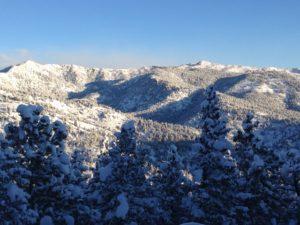 Deck view - snow