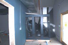 Machine room racks in position